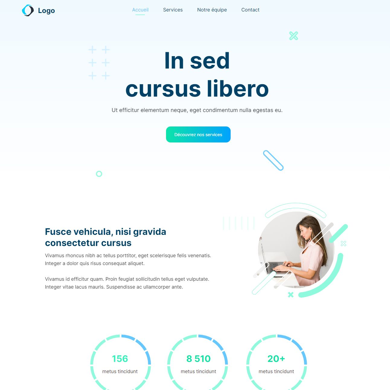 Theme for website creation of Saas