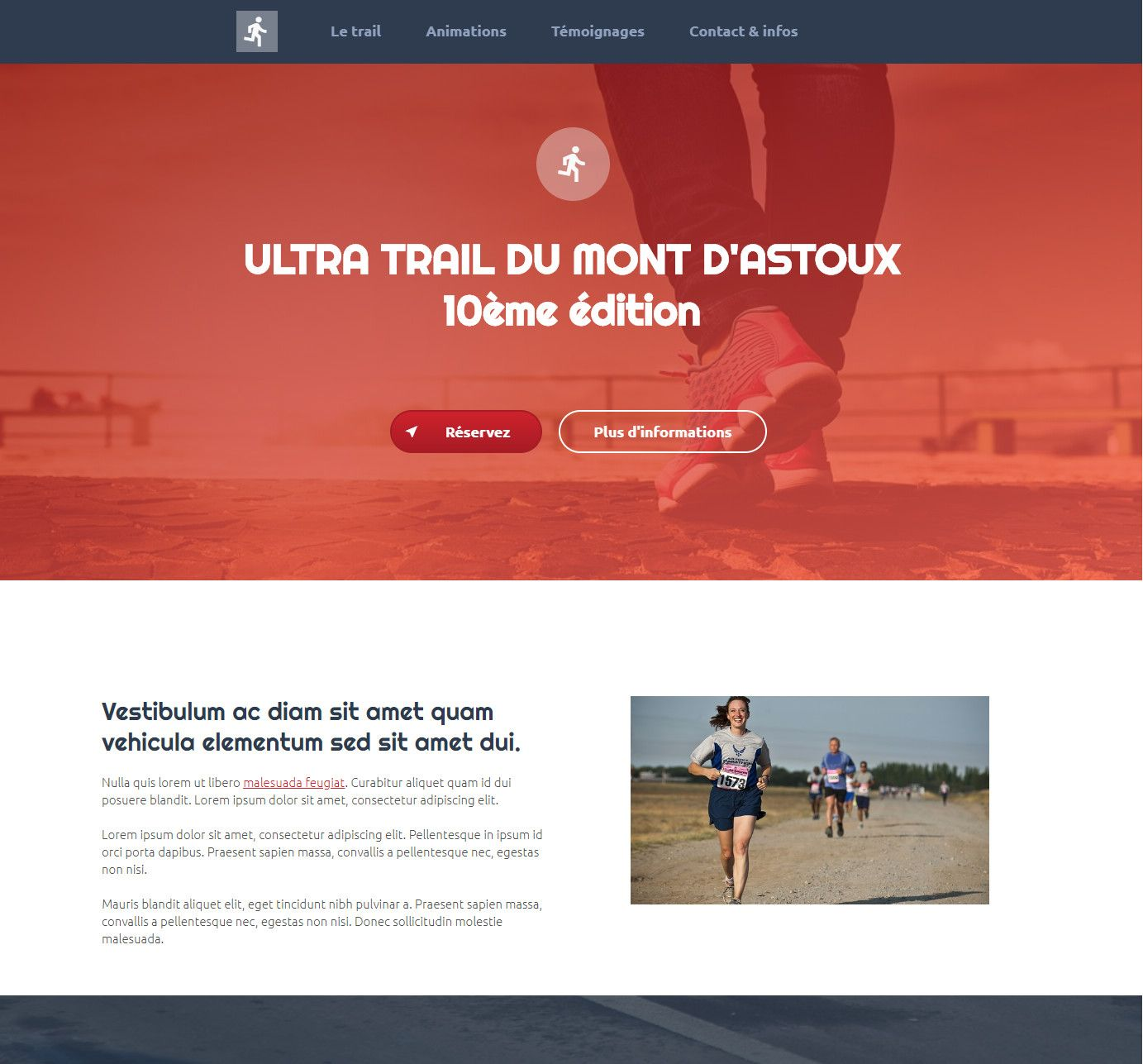 Theme for website creation of Trail
