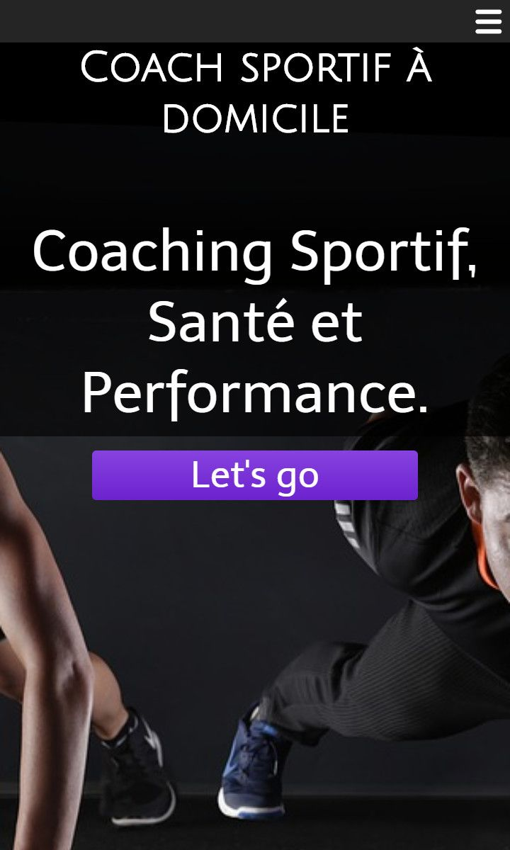 Mobile theme for easy website creation of Coach sportif